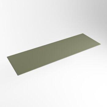 einbauplatte army grün solid surface 130 x 41 x 0,9 cm