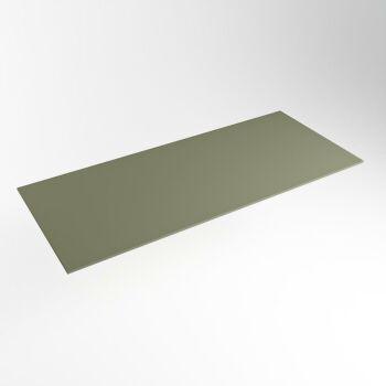 einbauplatte army grün solid surface 121 x 51 x 0,9 cm