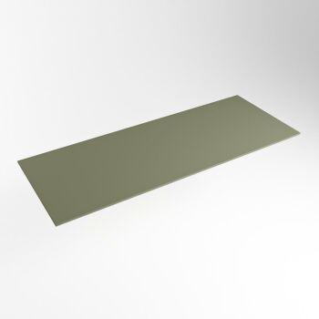 einbauplatte army grün solid surface 121 x 46 x 0,9 cm