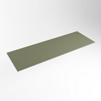 einbauplatte army grün solid surface 121 x 41 x 0,9 cm