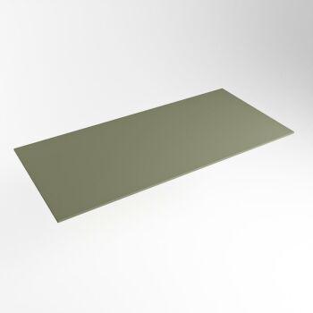 einbauplatte army grün solid surface 111 x 51 x 0,9 cm
