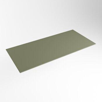 einbauplatte army grün solid surface 101 x 46 x 0,9 cm