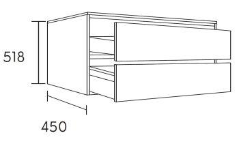waschtischunterschrank fine 100 cm m38105