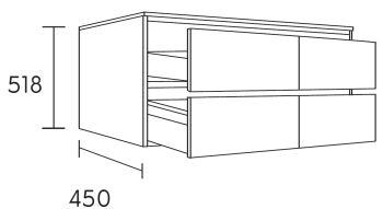 waschtischunterschrank fine 150 cm m38149