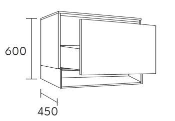 waschtischunterschrank flott 100 cm m41103