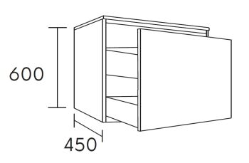 waschtischunterschrank flott 100 cm m41125